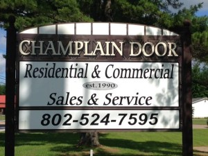 Champlain Door Systems signage